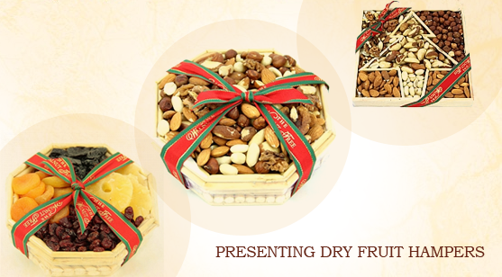Presenting dry fruit hampers