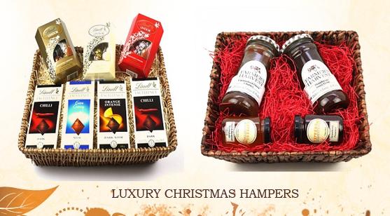 luxury Christmas hampers in uk