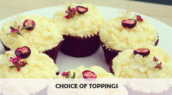 choice of toppings